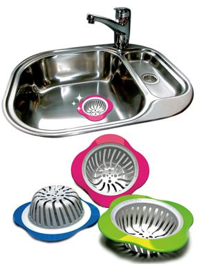 Kitchen Sink Strainer : High-Flow, Non-Slip And Colorful. Protect Your Drain and Keep it Clog Free.