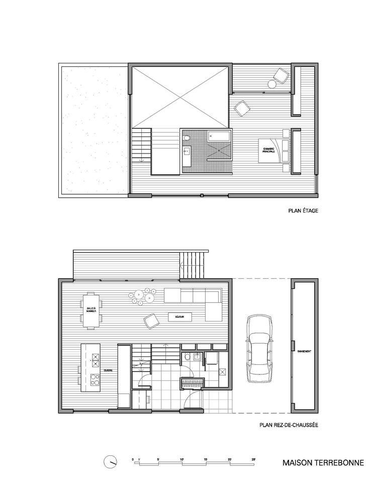 249 best Plattegronden images on Pinterest Floor plans, Architects - plan maison en l 100m2