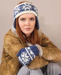 Норвежская вязаная повязка на голову с ушками - продам.купить Норвежская вязаная повязка на голову. Киев, Украина. Фото