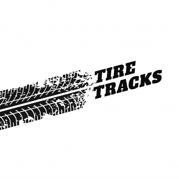 White Background With Tire Track Impression Free Vector Tire