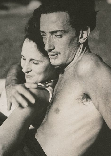 Salvador Dali with his wife Gala.