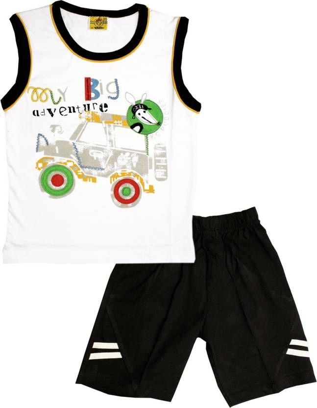 Kid's #Care Boys #Casual #T-shirt #Shorts  (White)