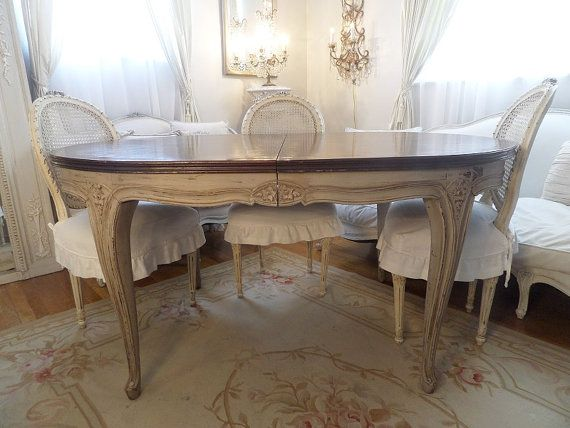 Stunning Antique French Louis Painted Dining by thequeensstuff