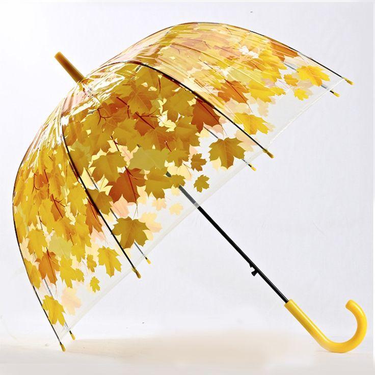 Женщина Зонтик Творческий Свежий ПВХ Прозрачный Гриб Зеленые Листья Арки Зонтик Ребенка Длинный Зонтик/Дождь Зонтик купить на AliExpress