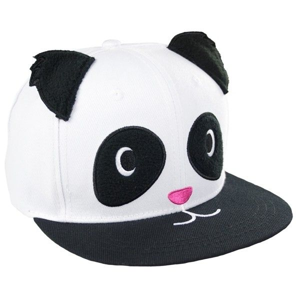 """Panda Please!"" Fleece Fluff Head Caps are 100% Cotton with embroidery designs and embellishments. Snap closure with printed graphic under visor. One Size Fits…"