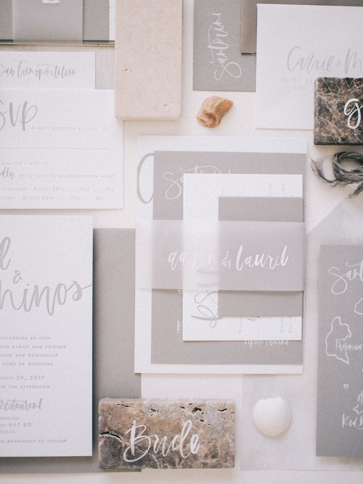 grey wedding invitations | A Fabulous Fete