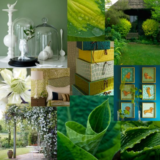 Take inspiration from our green moodboard for your home and garden