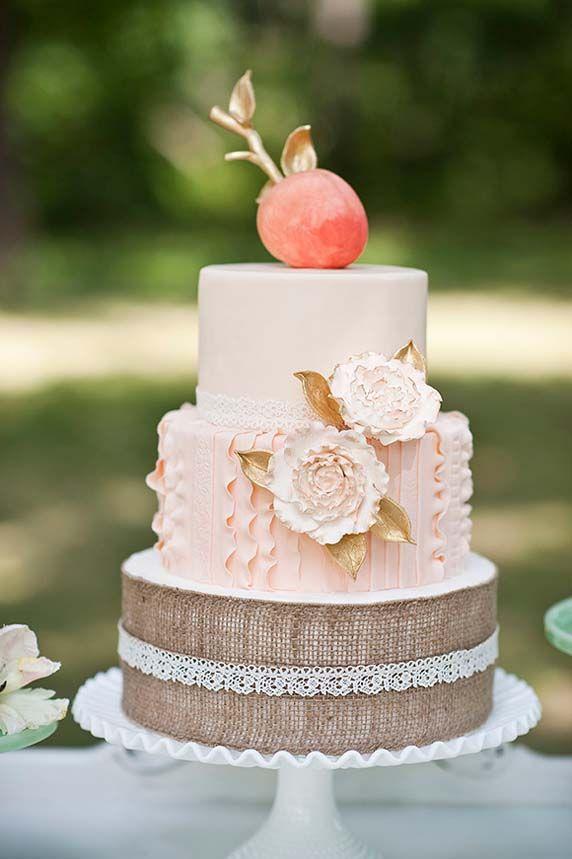 17 best ideas about Peach Wedding Cakes on Pinterest Wedding