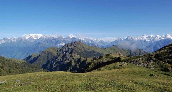 Views from camp-Himalayan Trek in India