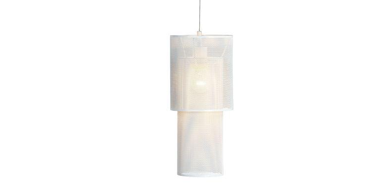 Houston Cylinder Pendant Light, White | made.com