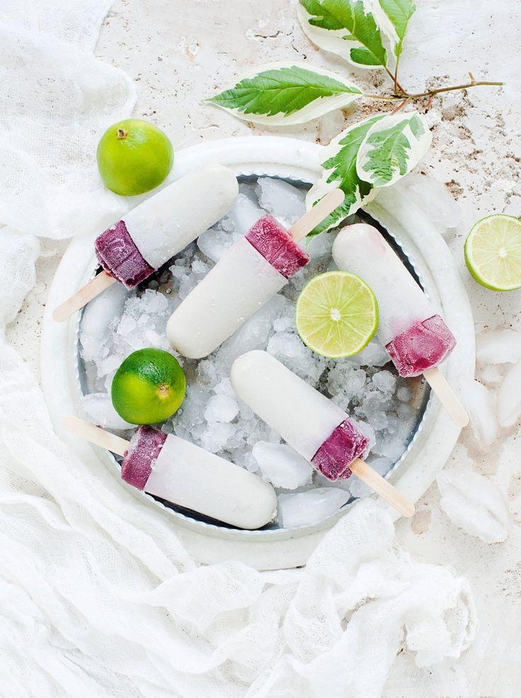 Esquimaux mûre-citron vert - Des fruits et des légumes transformés en sirops, puis en esquimaux... voilà un…