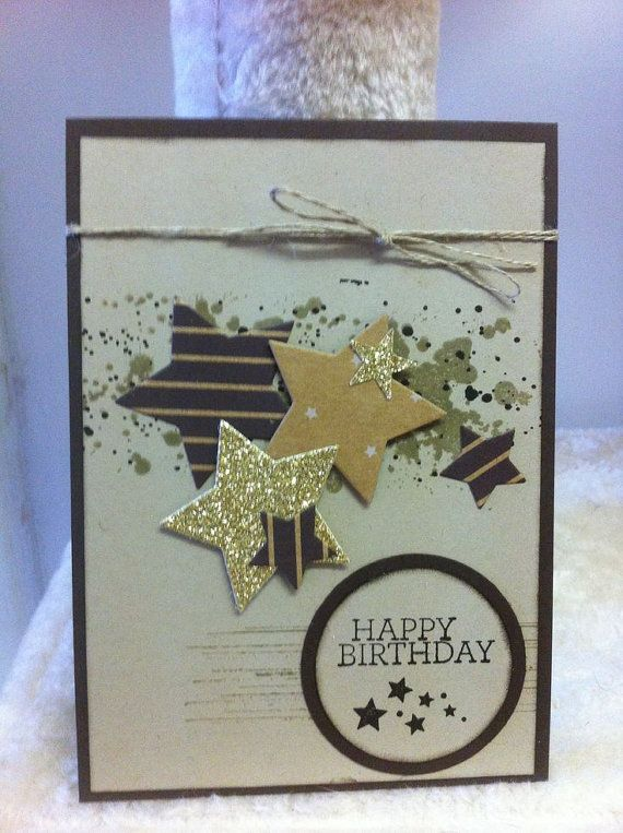 Handmade Happy Birthday card Stampin up card unisex by ladymajik