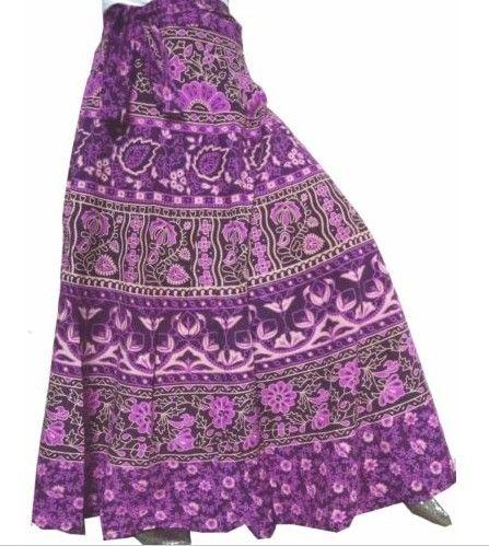 Indická zavinovací sukně (99 cm) - FIALOVÁ