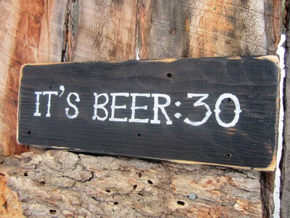Beer Sign Beer30 Sign Man Cave Sign Bar Sign by BearlyInMontana, $15.00