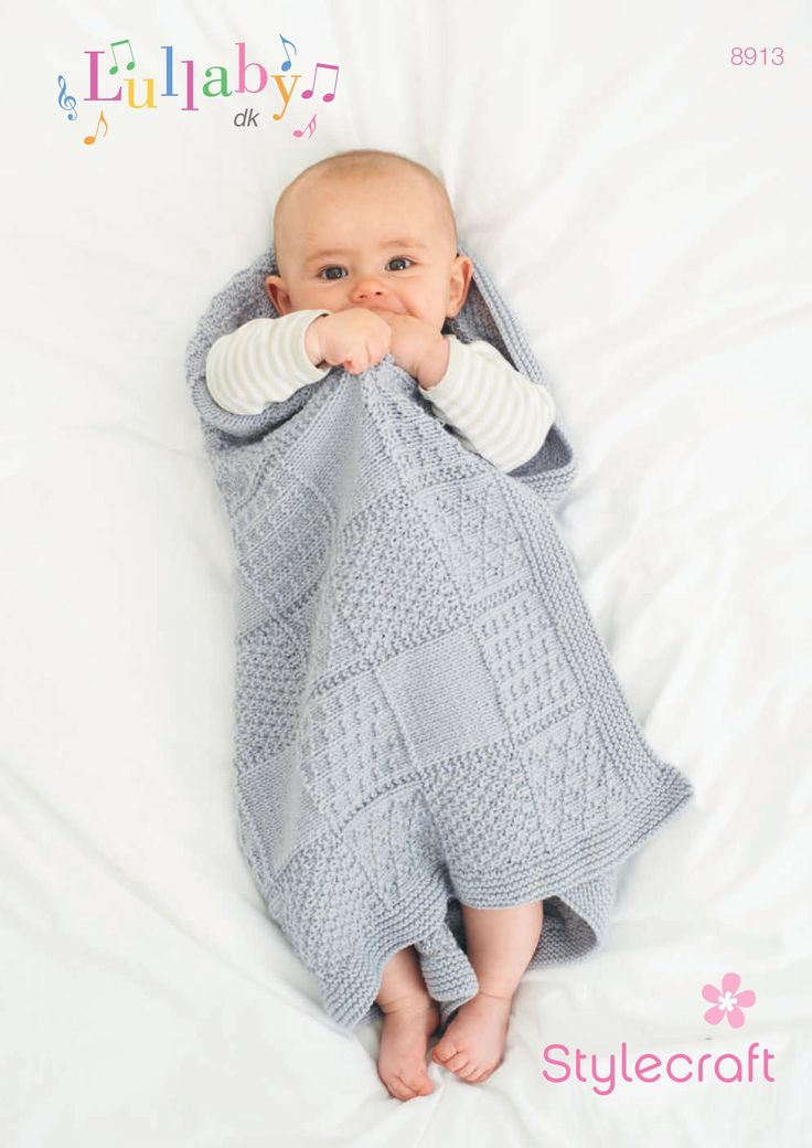 FREE pattern: Stylecraft baby blanket. Download today at LoveKnitting