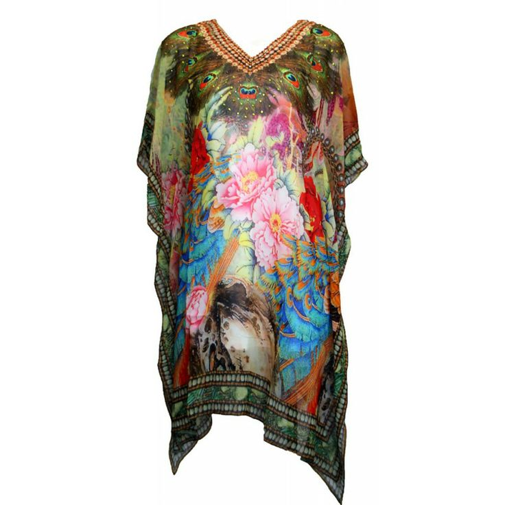Peacock feather kaftan from Airllywood http://airllywood.com.au
