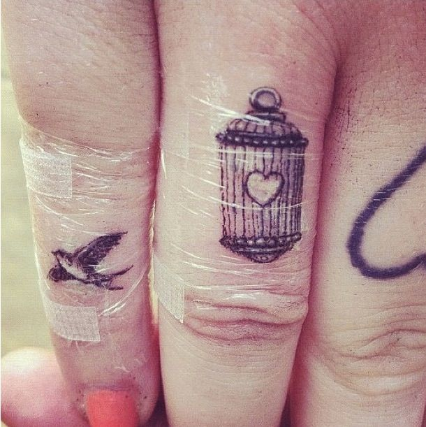 Finger Tattoo. I like some of these.