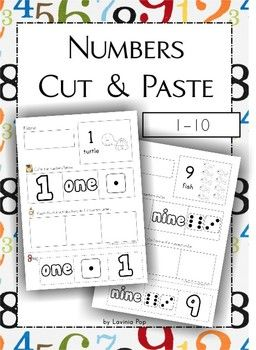 Numbers Cut & Paste (1-10) FREE I made this set of number recognition worksheets for preschoolers and kindergarten children to practice number recognition as well as to build up their cutting skills.