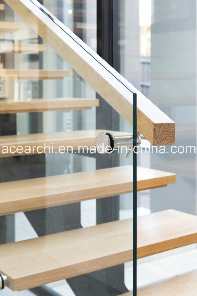 Hot Item Modern Single Beam Straight Staircase Steel Stair With | Cost Of Glass Balustrade Stairs | Wood | Side Clamp | Steel Bracket | Spiral Staircase | Stainless Steel