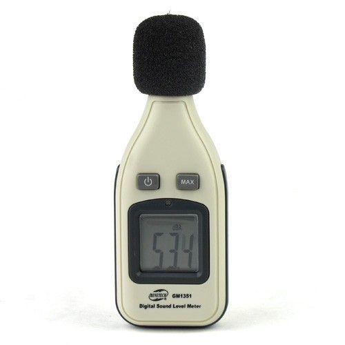 100% Оригинал 30dBA-130dBA ЖК-Цифровой Аудио Звук Шума Измеритель Уровня Децибел Монитор Тестер Давления GM1351 Бесплатная Доставка