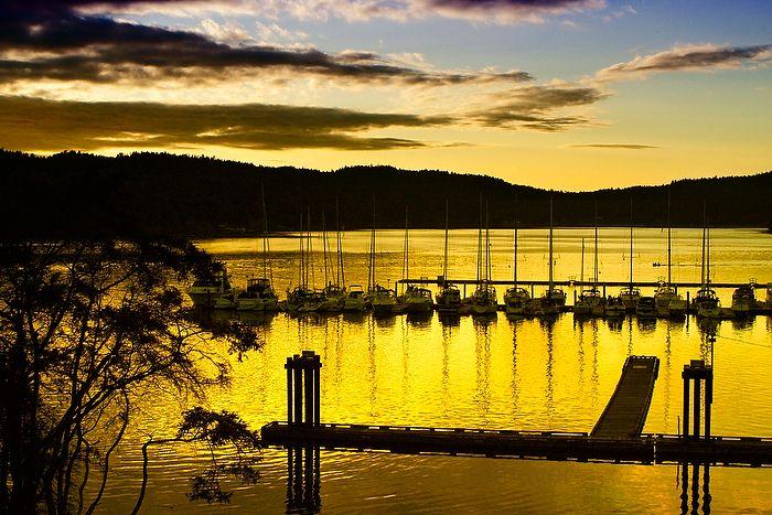 sunset at poets cove resort and spa, pender island www.nancyangermeyer.com