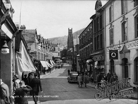 Church Street c1955, Abertillery