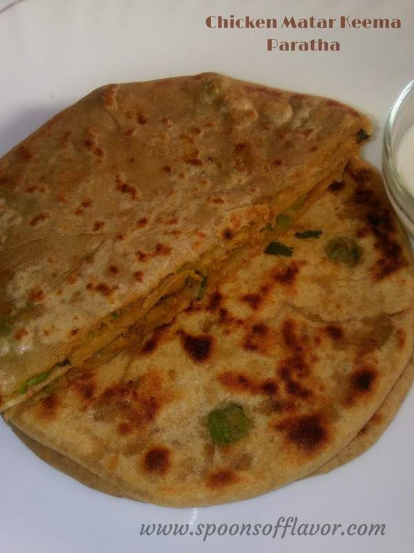 Chicken matar keema paratha recipe / Stuffed chicken with green peas paratha