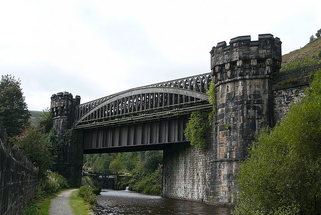 Railway bridge over the Rochdale Canal, Todmorden