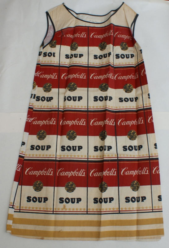 andy warhol campbell soup dress