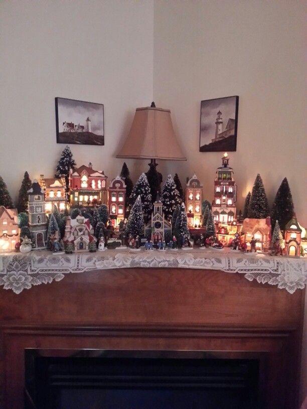 210 best images about christmas village displays on pinterest - Decor village noel miniature ...