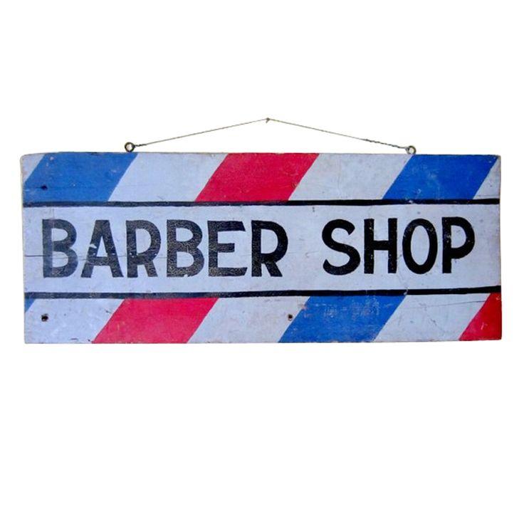 Barber Shop Johnson City Tn : Barber Shop Trade Sign USA, TENN C 1880- 1900 Graphic double sided ...