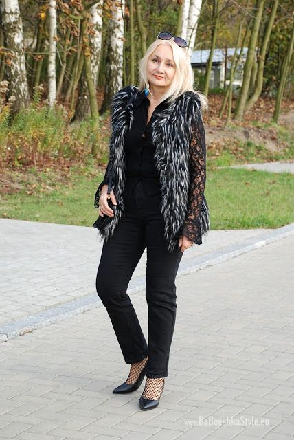 Babooshka Style - Blog modowy: Dresslily fur waistcoat & lace.