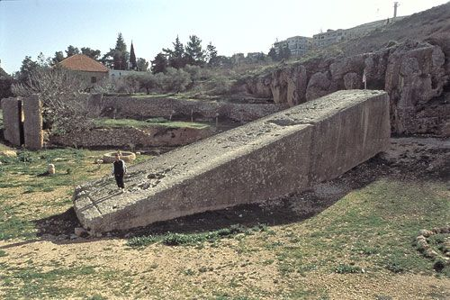 The greatest of the Baalbek stones, perhaps 1200 tons ... Why these stones are such an enigma to contemporary scientists, both engineers and archaeologists alike, is that their method of quarrying, transportation and precision placement is beyond the technological ability of any known ancient or modern builders.