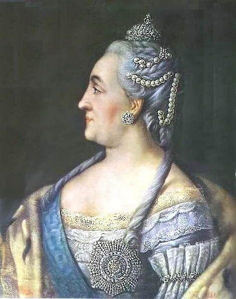 Catherine II by Alexey Antropov (1766, Novgorod museum)