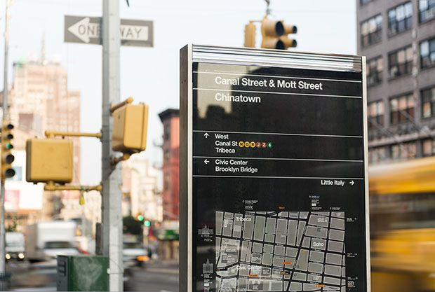 WalkNYC, a new program of pedestrian maps that makes it easier to navigate the city streets.