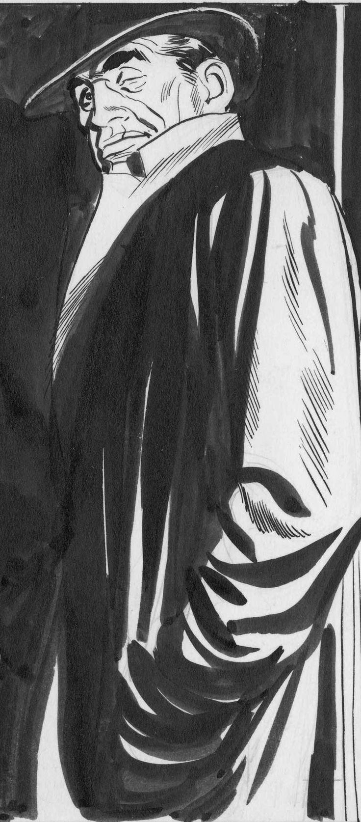 A moody individual that looks to be up to no good! :) by the incredible Alex Raymond