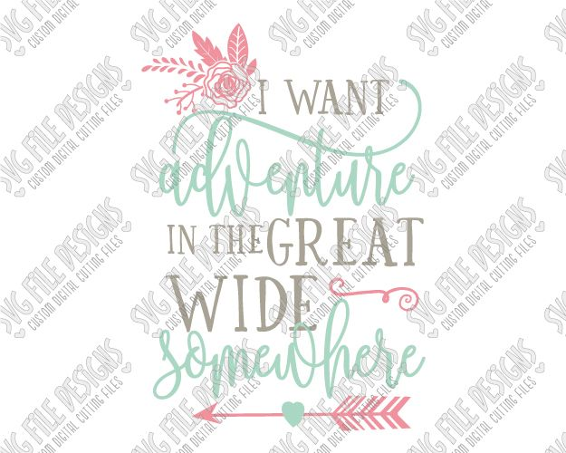 I Want Adventure Beauty and the Beast Belle Quote Cut File ...