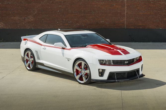 Camaro Ss White Zl1 Red Supercharged Front