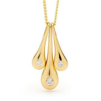 Buy our Australian made Liquid Gold Pendant with Zirconia - BEE-65172-CZ online. Explore our range of custom made chain jewellery, rings, pendants, earrings and charms.