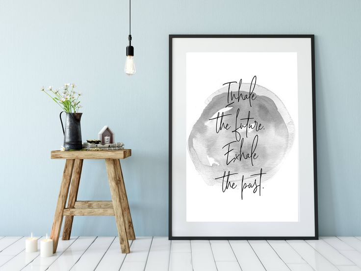 Printable Wall Art, Printable Art, Printable Quote, Prints,Poster,Instant Download, Inhale Exhale Print, Motivational Wall Decor, Yoga Print