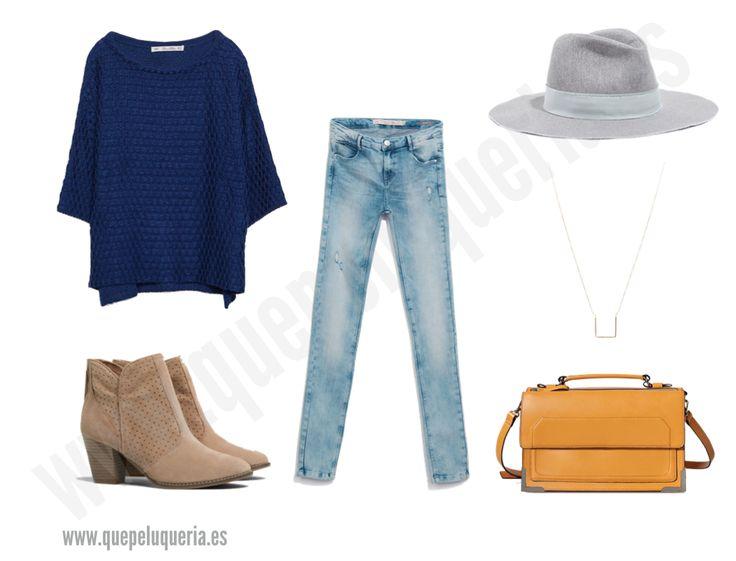**LOOK BY KNITS** Jersey de punto: Zara Woman 2014 / Botines: Pull & Bear 2014 / Jeans: Zara Trafaluc 2014 / Sombrero: Zara Woman 2014 / Colgante: Asos 2014 / Bolso: Zara Woman 2014