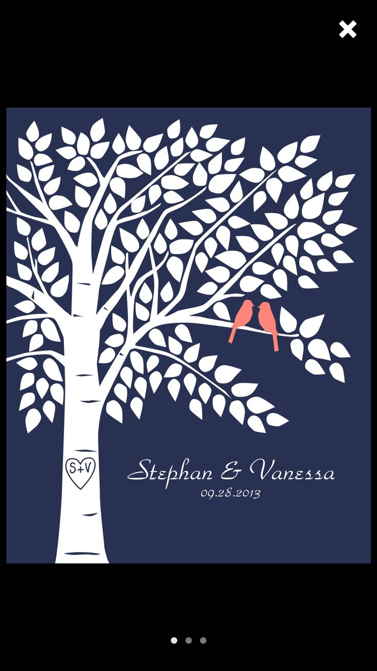 Wedding guestbook Navy and Coral