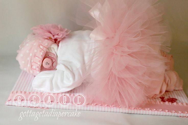 ballerina, tutu diapercake, Sleeping diaper babies, diaper cakes, baby shower, center piece,  girl diaper baby, baby gifts, unique gifts, by Gottagetadiapercake on Etsy https://www.etsy.com/listing/192039562/ballerina-tutu-diapercake-sleeping