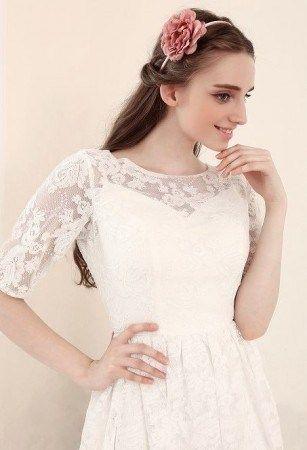 Simple Short Lace Wedding Dresses Darius Cordell Fashion Ltd
