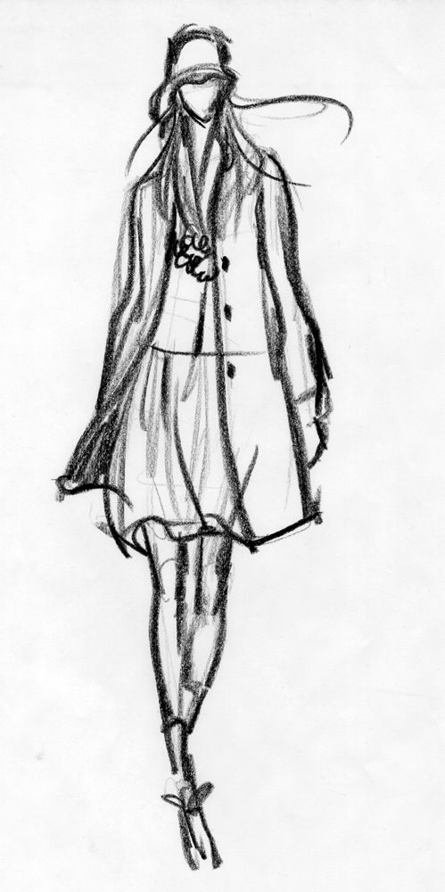 Fashion Sketch - fashion design drawing; fashion illustration // Susanna Ngao