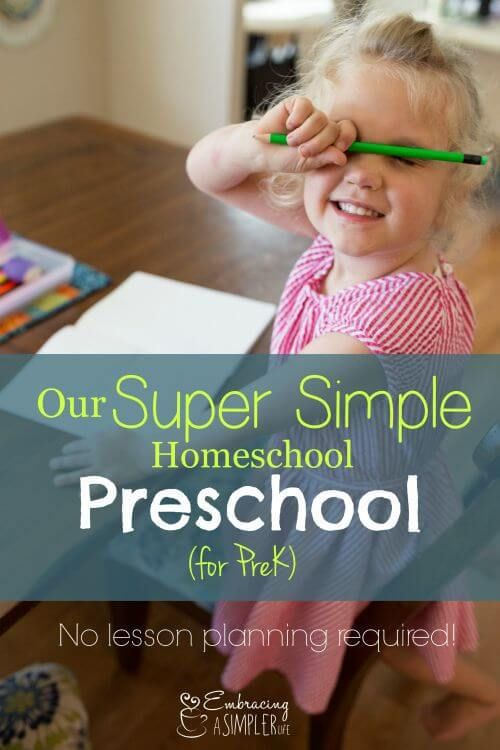 our super simple home school preschool