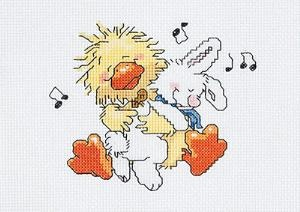 Suzy Zoo's Witzy Duck with bunny.  Another one for Alice stitched in 2010