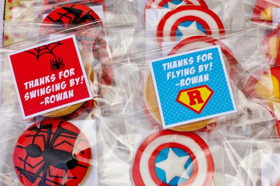 Superhero Party Favors Spiderman Party Favors by CrowningDetails