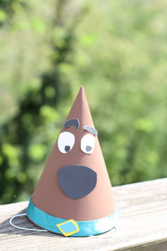 Scooby Doo Birthday Party Hat....I can make these!