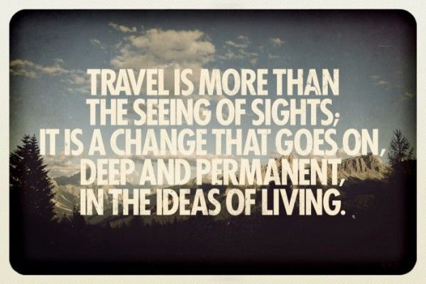 Expansion Of Ideas: Travel broadens the mind